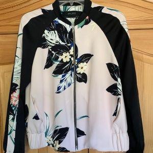 Beautiful Zara Tropical Bomber Jacket SZ M